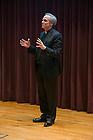 Feb. 16, 2015; University of Notre Dame President, Rev. John I. Jenkins, C.S.C., speaks during the Undergraduate Town Hall Event held in DeBartolo. (Photo by Barbara Johnston/University of Notre Dame)