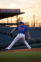 AZL Cubs 1 relief pitcher Chad Hockin (34) during a rehab assignment in an Arizona League game against the AZL Royals on June 30, 2019 at Sloan Park in Mesa, Arizona. AZL Royals defeated the AZL Cubs 1 9-5. (Zachary Lucy/Four Seam Images)