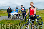 Launching the Let's get Kerry cycling campaign on Friday were, John Murray, Paudie Fitzgerald, Cora Carraig, Dave Elton and Avril Hewitt.