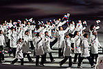 Olympic team of Japan during the parade of nations at the Opening ceremony of the 2014 Sochi Olympic Winter Games at Fisht Olympic Stadium on February 7, 2014 in Sochi, Russia. Photo by Victor Fraile / Power Sport Images
