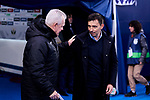 Javier Aguirre coach of CD Leganes and Asier Gaditano of Deportivo Alaves during La Liga match between CD Leganes and Deportivo Alaves at Butarque Stadium in Leganes, Spain. February 29, 2020. (ALTERPHOTOS/A. Perez Meca)