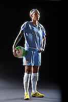 Natasha Kai of Sky Blue FC during a Women's Professional Soccer photo shoot in Brooklyn, New York on February 17, 2010.