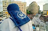 Desfile do Bloco Filhos de Gandhy no carnaval. Salvador. Bahia. 2000. Foto de Catherine Krulik.