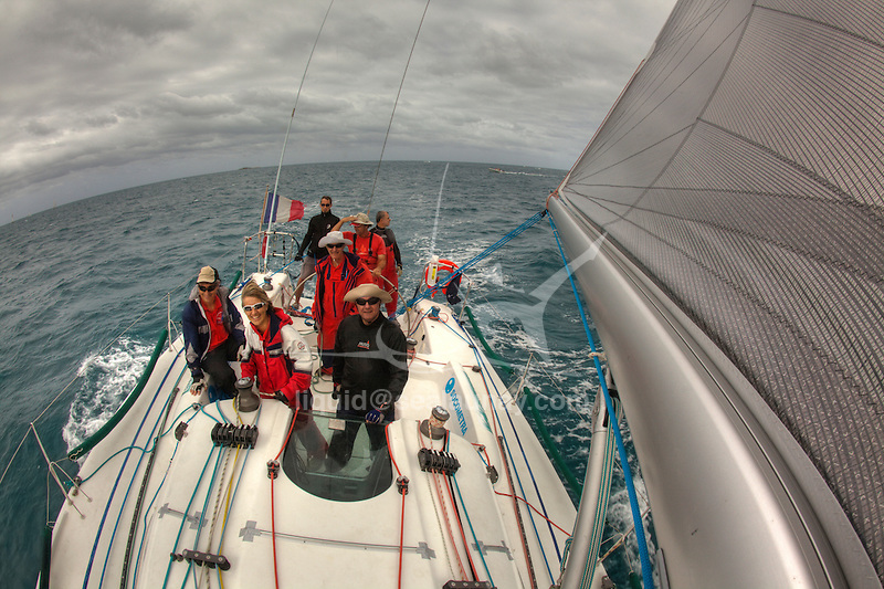 """I have been kindly invited by Jean Luc Esplaas onboard his Archambault 40 """"41 Sud Electropac"""" for the 320 nautical miles bi-annual classic """"Beneteau Lagoon Cup Noumea (New Caledonia) Port Vila (Vanuatu) Race 2009"""" for the local it's simply called the Port Vila race..It was perfect bare foot sailing conditions with a 28 degrees Celsius water temperature, a reasonably smooth and without hiccups reach tack in a 25 knots trade wind and a magnificent full moon for the ambiance exactly as advertised with a very close finish to get all the ingredients in the same basket. .First a multihull """"McMoggy"""" skipper Denis Planchon arrived on Sunday night after a 34h and 38 mins race, the first monohull a Dufour 44 """"internautic 6"""" skipper Thierry Causer arrived on Monday early morning after a 41h and 3 mins race followed by a trio in a pure dawn match racing in the Efate Bay in Port Vila Vanuatu, an Archambault 40 """"Lagoon Ozone"""" skipper Olivier Decouzon in 42 h 52 mins followed by an our dearest Archambault 40 """"41 Sud Electropac"""" skipper Jean-Luc Esplaas in 42 h 54 mins and 4 s and a Young Eleven """"Radical Concept"""" skipper Philippe Mazard in 42 h 54 mins and 50 s...I told you it was a close finish after 320 nautical miles. .All results can be found on: http://cnc.navitrac.fr/stat.php.23 yachts participated in this year's event. Jean Luc Esplaas and his Archambault 40 """"41 Sud Electropac"""" did this race in preparation for the upcoming 65th Rolex Sydney Hobart Yacht Race..Vanuatu, formerly the Anglo-French condominium of the New Hebrides is largely an untouched paradise in the South Pacific. Port Vila is the seat of government and the main business centre of the island group. ."""