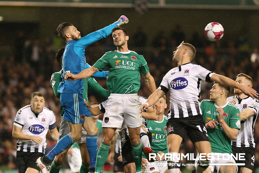 Mark McNulty of Cork City clears a ball during the Irish Daily Mail FAI Cup Final between Dundalk and Cork City, on Sunday 4th November 2018, at the Aviva Stadium, Dublin. Mandatory Credit: Michael P Ryan.