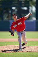 Boston Red Sox pitcher Henry Owens (60) delivers a warmup pitch during an Instructional League game against the Baltimore Orioles on September 22, 2016 at the Ed Smith Stadium in Sarasota, Florida.  (Mike Janes/Four Seam Images)