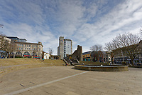 Pictured: The usually busy Castle Square is deserted in the city centre of Swansea, Wales, UK. Saturday 21 March 2020<br /> Re: Covid-19 Coronavirus pandemic, UK.