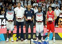 SERBIA - USA BASKETBALL WORLD CUP SPAIN MADRID final, finale Srbija - SAD<br /> sunday September 14. 2014. Pau Gasol Milos Teodosic