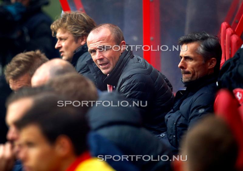 Nederland, Enschede, 26 april  2015<br /> Eredivisie<br /> Seizoen 2014-2015<br /> FC Twente-AZ<br /> Alfred Schreuder, trainer-coach van FC Twente