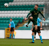 15th November 2020; Tallaght Stadium, Dublin, Leinster, Ireland; 2021 Under 21 European Championships Qualifier, Ireland Under 21 versus Iceland U21; Jack Taylor clears the ball for Republic of Ireland