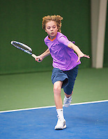 01-12-13,Netherlands, Almere,  National Tennis Center, Tennis, Winter Youth Circuit,  Jort Nijdam <br /> Photo: Henk Koster