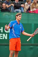 10-07-12, Netherlands, Den Haag, Tennis, ITS, HealthCity Open,  Thiemo de Bakker   is frustrated