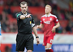 Aberdeen v St Johnstone…29.04.17     SPFL    Pittodrie<br />Referee Alan Muir<br />Picture by Graeme Hart.<br />Copyright Perthshire Picture Agency<br />Tel: 01738 623350  Mobile: 07990 594431