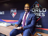 HOUSTON - OCTOBER 23: Fox Deportes' Carlos Alvarez at World Series Game 2: Washington Nationals at Houston Astros on Fox Sports at Minute Maid Park on October 23, 2019 in Houston, Texas. (Photo by Frank Micelotta/Fox Sports/PictureGroup)
