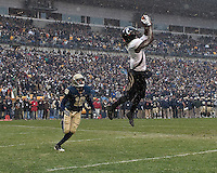 Cincinnati wide receiver Mardy Gilyard makes a two-point conversion catch to the the game. The Cincinnati Bearcats defeated the Pittsburgh Panthers 45-44 in the final seconds of the River City Rivalry in a contest for the Big East Championship and a major bowl bid on December 5, 2009 at Heinz Field, Pittsburgh, Pennsylvania. .