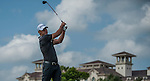 Participants compete during the Mission Hills World Celebrity Pro-Am at the Haikou Mission Hills Resort on October 20, 2012, in China's province of Hainan. Celebrity participants include Oscar-winning actor Adrien Brody, Oscar-nominated actor Andy Garcia, Canadian film and television actor Ryan Reynolds, American actress Minka Kelly and Korea's top male movie star Jeong Woo-Seong. Photo by Victor Fraile / The Power of Sport Images for Mission Hills