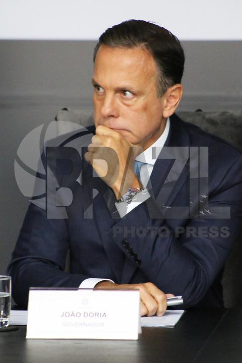 SÃO PAULO, SP, 10.04.2019: POLITICA-SP: João Doria, Governador de São Paulo, apresenta o balanço do primeiro trimestre à frente do Governo do Estado, nesta quarta-feira, 10. ( Foto: Charles Sholl/Brazil Photo Press/Folhapress)