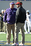 December 30, 2016: Georgia Bulldogs head coach Kirby Smart and TCU head coach Gary Patterson meeting at mid field prior to the kickoff of the AutoZone Liberty Bowl at Liberty Bowl Memorial Stadium in Memphis, Tennessee. ©Justin Manning/Eclipse Sportswire/Cal Sport Media