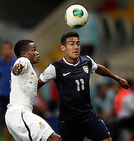 USA's Jose Villarreal (R) during their FIFA U-20 World Cup Turkey 2013 Group Stage Group A soccer match Ghana betwen USA at the Kadir Has stadium in Kayseri on June 27, 2013. Photo by Aykut AKICI/isiphotos.com
