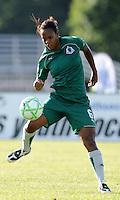 Kia McNeil..Saint Louis Athletica tied 1-1 with F.C Gold Pride, at Anheuser-Busch Soccer Park, Fenton, Missouri.