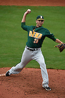 Siena Saints pitcher Ed Lewicki (26) delivers a pitch during the second game of a doubleheader against the Michigan Wolverines on February 27, 2015 at Tradition Field in St. Lucie, Florida.  Michigan defeated Siena 6-0.  (Mike Janes/Four Seam Images)