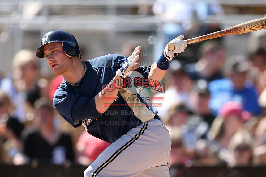 March 11,2009: Jonathan Lucroy (87) of the Milwaukee Brewers at Camelback Ranch in Glendale, AZ.  Photo by: Chris Proctor/Four Seam Images