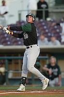 Brian Stavisky of the Modesto Athletics bats during a 2004 season California League game against the Island Empires 66ers at San Manuel Stadium in San Bernardino, California. (Larry Goren/Four Seam Images)