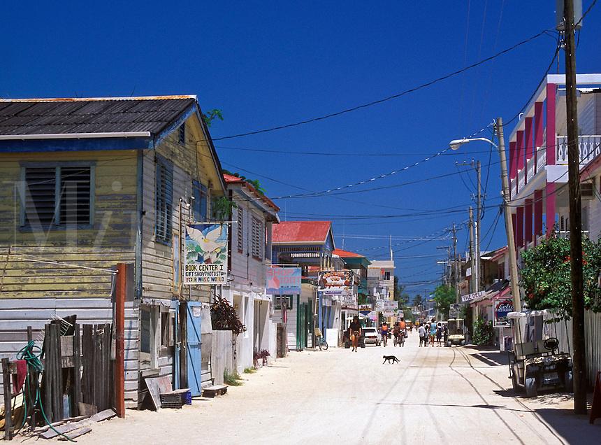 Unpaved Front Street, San Pedro, Ambergris Caye, Belize