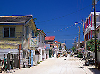 Unpaved Front Street, San Pedro, Ambergris Caye, Belize