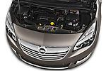 High Angle Engine Detail 2014 Opel MERIVA Cosmo 5 Door Mini MPV 2WD Stock Photo