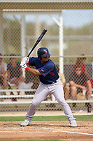 FCL Red Sox Jose Garcia (37) bats during a game against the FCL Twins on July 3, 2021 at CenturyLink Sports Complex in Fort Myers, Florida.  (Mike Janes/Four Seam Images)