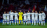 Players of Real Madrid pose for a photo prior to the La Liga 2017-18 match between Atletico de Madrid and Real Madrid at Wanda Metropolitano  on November 18 2017 in Madrid, Spain. Photo by Diego Gonzalez / Power Sport Images