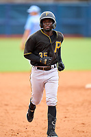 FCL Pirates Black Luis Tejeda (35) rounds the bases after hitting a home run during a game against the FCL Rays on August 3, 2021 at Charlotte Sports Park in Port Charlotte, Florida.  (Mike Janes/Four Seam Images)