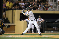 Johnny Aiello (2) of the Wake Forest Demon Deacons at bat against the West Virginia Mountaineers in Game Four of the Winston-Salem Regional in the 2017 College World Series at David F. Couch Ballpark on June 3, 2017 in Winston-Salem, North Carolina.  The Demon Deacons walked-off the Mountaineers 4-3.  (Brian Westerholt/Four Seam Images)