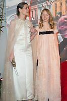 ---- PAS DE TABLOIDS, PAS DE WEB --- Charlotte Casiraghi et S.A.R. la Princesse Alexandra de Hanovre<br /> Bal de la Rose 2016 imaginÈ par Karl Lagerfeld, Soiree Cuba donnee au profit de la Fondation Princesse Grace