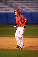 Ball State Cardinals center fielder Matt Eppers (35) during a game against the Wisconsin-Milwaukee Panthers on February 26, 2016 at Chain of Lakes Stadium in Winter Haven, Florida.  Ball State defeated Wisconsin-Milwaukee 11-5.  (Mike Janes/Four Seam Images)
