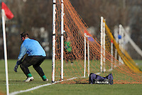 A Sunday football goalkeeper is seen during a Hackney & Leyton Sunday League match at Hackney Marshes - 06/01/08 - MANDATORY CREDIT: Gavin Ellis/TGSPHOTO - Self billing applies where appropriate - Tel: 0845 094 6026