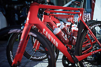 Team Katusha bikes ready to race<br /> <br /> 3-daagse van West-Vlaanderen 2016<br /> stage1: Bruges-Harelbeke 176km