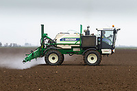 8.3.2021 Pre-emergence spraying on Spring Barley in Lincolnshire <br /> ©Tim Scrivener Photographer 07850 303986<br />      ....Covering Agriculture In The UK....