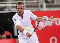 BOGOTA -COLOMBIA , 16 -JULIO-2014. Radek Stepanek de Checosvolaquia  en  accion  contra Guido Pella  de Argentina durante el Torneo ATP 250  Claro Open Colombia 2014  disputado en el Centro de alto Rendimiento de la capital . /  Radek Stepanek of CZE in action against Guido Pella  of  Argentina2 014 match  played at the Centro de Alto Rendimiento  in the capital. Photo: VizzorImage / Felipe Caicedo / Staff