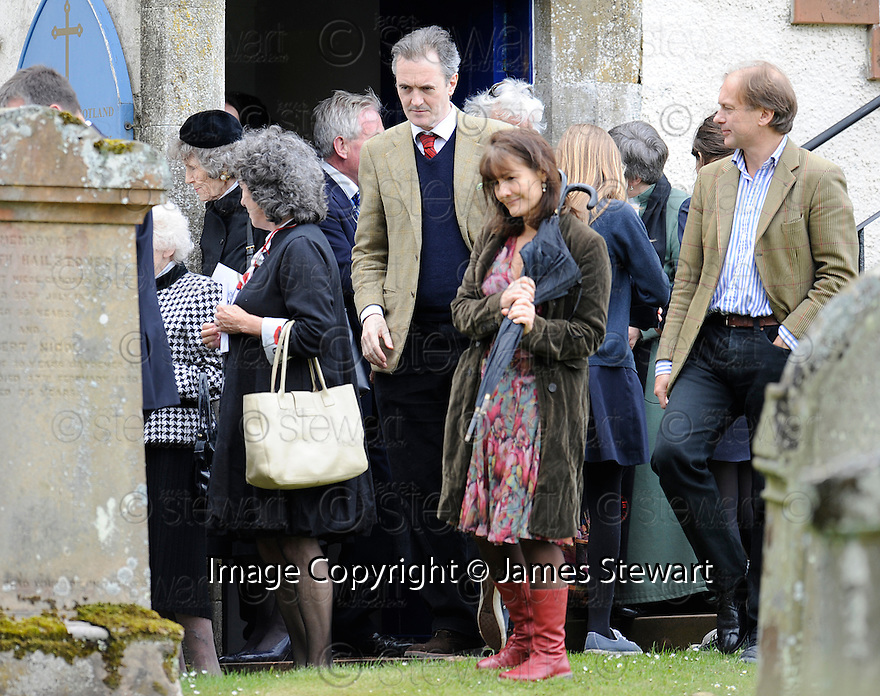UNIDENTIFIED GUESTS AT TRAQUAIR KIRK, KIRKHOUSE, FOR THE MEMORIAL SERVICE FOR LORD COLIN CHRISTOPHER PAGET GLENCONNER, HELD ON SATURDAY 18TH JUNE 2011