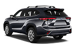Car pictures of rear three quarter view of 2021 Toyota Highlander-Hybrid Limited 5 Door SUV Angular Rear