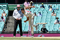 11th January 2021; Sydney Cricket Ground, Sydney, New South Wales, Australia; International Test Cricket, Third Test Day Five, Australia versus India; Mitchell Starc of Australia bowling