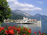 Schweiz, Kanton Luzern, Weggis: Dampfschiff STADT LUZERN auf Seerundfahrt | Switzerland, Canton Lucerne, Weggis: steam boat STADT LUZERN