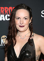 HOLLYWOOD, CA - OCTOBER 12: Sarah Nicklin, at the 21st Screamfest Opening Night Screening Of The Retaliators at Mann Chinese 6 Theatre in Hollywood, California on October 12, 2021. Credit: Faye Sadou/MediaPunch