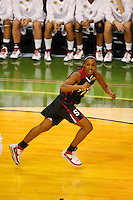6 April 2008: Stanford Cardinal Candice Wiggins during Stanford's 82-73 win against the Connecticut Huskies in the 2008 NCAA Division I Women's Basketball Final Four semifinal game at the St. Pete Times Forum Arena in Tampa Bay, FL.
