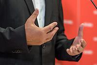 """Der Parteivorsitzende der Linkspartei, Bernd Riexinger (im Bild) und der stellv. Vorsitzende der Bundestagsfraktion der Linkspartei, Klaus Ernst, stellten am Montag den 28. August 2017 Ueberlegungen des Parteivorstandes zum """"Normalarbeitsverhaeltnis als linke Antwort fuer die Zukunft der Arbeit"""" vor.<br /> 28.8.2017, Berlin<br /> Copyright: Christian-Ditsch.de<br /> [Inhaltsveraendernde Manipulation des Fotos nur nach ausdruecklicher Genehmigung des Fotografen. Vereinbarungen ueber Abtretung von Persoenlichkeitsrechten/Model Release der abgebildeten Person/Personen liegen nicht vor. NO MODEL RELEASE! Nur fuer Redaktionelle Zwecke. Don't publish without copyright Christian-Ditsch.de, Veroeffentlichung nur mit Fotografennennung, sowie gegen Honorar, MwSt. und Beleg. Konto: I N G - D i B a, IBAN DE58500105175400192269, BIC INGDDEFFXXX, Kontakt: post@christian-ditsch.de<br /> Bei der Bearbeitung der Dateiinformationen darf die Urheberkennzeichnung in den EXIF- und  IPTC-Daten nicht entfernt werden, diese sind in digitalen Medien nach §95c UrhG rechtlich geschuetzt. Der Urhebervermerk wird gemaess §13 UrhG verlangt.]"""