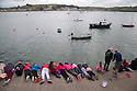 25/05/15<br /> <br /> Children lie on the quay while crabbing in Appledore, North Devon on bank holiday Monday.<br /> <br /> All Rights Reserved - F Stop Press.  www.fstoppress.com. Tel: +44 (0)1335 418629 +44(0)7765 242650