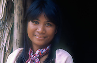 """A local Tagbanwa Girl or Tagbanua, one of the oldest ethnic groups in the Philippines, can found in central and northern Palawan. Research has shown that the Tagbanwa are possible descendants of the Tabon Man; thus, making them one of the original inhabitants of the Philippines. They are brown-skinned, slim and straight-haired ethnic group and exceptional climbers. <br /> <br /> Showcasing in particular their incredible climbing skills while collecting the thought after """"White Gold"""" or bird's nest on Coron Island, Philippines<br /> <br /> Tagbanwa live in compact villages of 45 to 500 individuals their total estimated population is over 10,000 from which 1,800 of these are in the Calamianes Group of islands.<br /> <br /> The  Tagbanua culture is closely intertwined with that of swallows who build edible nests in caves on the towering cliffs of the island.The edible bird's nest caves are maintained by individual families, and provide another major source of income for the indigenous people in the island.<br /> <br /> Coron island comprises of massive vertical limestone cliffs that reach up to 600 meters above sea level and eight (8) brackish lakes and three (3) smaller one's that have underground connections to the sea.<br /> The nests from the swallow are harvested by the Tagbanua; the sea swallows make the nest from saliva and it's a highly valued ingredient in Cantonese bird's nest soup. Each family group of Tagbanua's closely guarding their individual Caves in these limestone cliffs and only harvest the Nest during a particular season, safeguarding the survival for future generations. They are also guarding the area during the harvest season, temporary putting up a primitive shelter just below the caves to ensure that no outsider is encroaching on their territory that has been in their family for generations."""