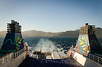 Marlborough Sounds, NEW ZEALAND - January 17: A life ring from the  Interislander Aratere. January 17, 2015 in Marlboroough, New Zealand.  REAL PEOPLE.  (Photo by Elias Rodriguez/ real-people.co.nz)